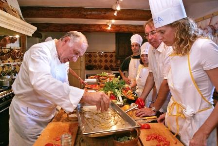 photo d'un cours de cuisine